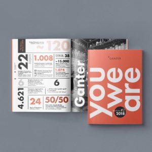 Stang-design Ganter Magazin Editorial Design